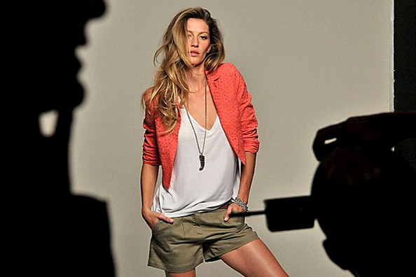Gisele Bundchen on a Photo Shoot