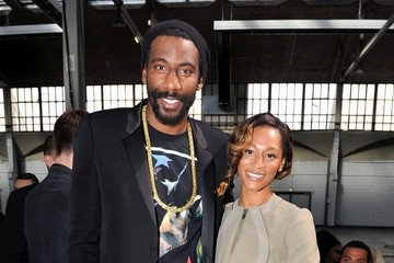 Amare Stoudemire Alexis Welch Givenchy Menswear Fashion Show