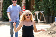 Goldie Hawn and Kurt Russell Check on Their New House