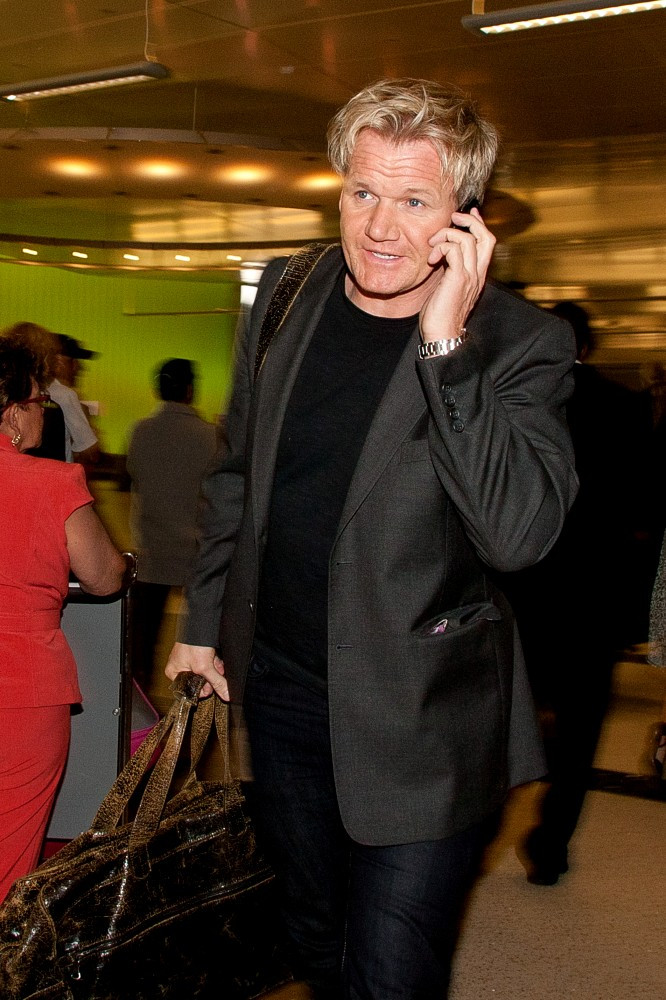 gordon ramsay at lax zimbio. Black Bedroom Furniture Sets. Home Design Ideas