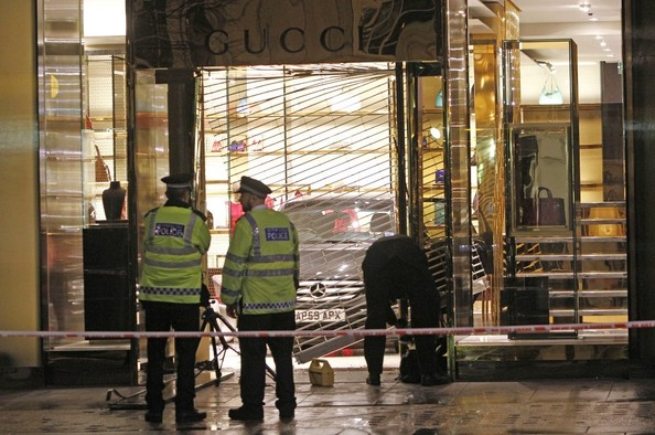 Someone Crashed a Mercedes Into the Gucci Store and Stole a Ton of Stuff [PHOTOS]