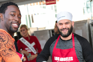 Guillermo Diaz Christmas Meal for the Homeless at LA Mission
