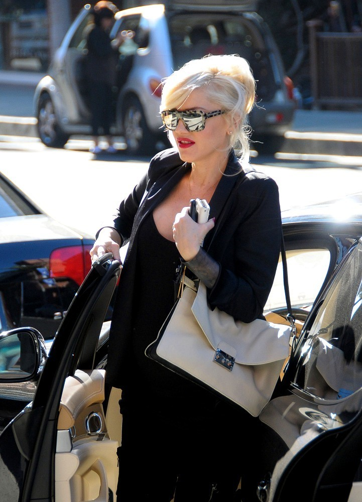 Gwen Stefani and Kingston Take a Stroll