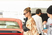 Hailey Baldwin and Jusrin Bieber are seen in Los Angeles, California.