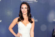 Jessica Lowndes is seen attending the Hallmark Channel and Hallmark Movies & Mysteries summer 2019 TCA press tour Event at Private Residence in Los Angeles, California.