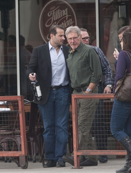 Harrison Ford Photos Photos - Harrison Ford and Son Get Some