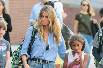 Heidi Klum Lou Samuel Heidi Klum Spends Time Out In NY With Her Children