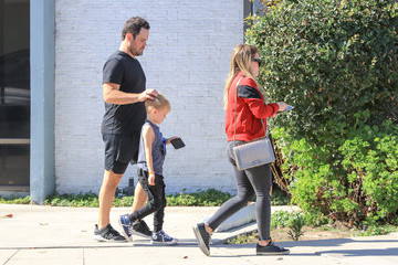 Hilary Duff Mike Comrie Mike Comrie and Hilary Duff Visit Son Luca at Baseball