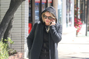 Hilary Duff Stays Incognito in a Black Hoodie