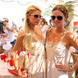 Paris and Nicky Hilton at La Voile Rouge
