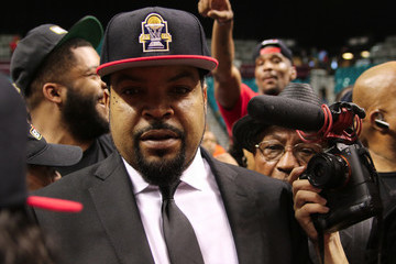 Ice Cube Celebs Visit the Big3 Basketball Game