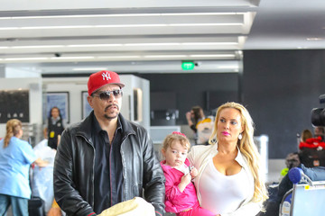 Ice-T Coco Austin at LAX