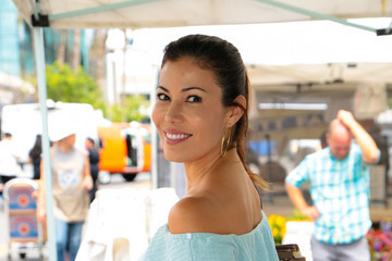 Iris Almario Iris Almario At The Farmer's Market In Studio City