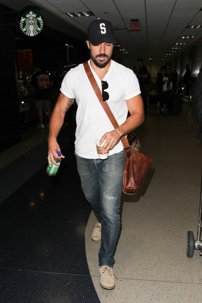 DJ Cotrona Is Seen at LAX