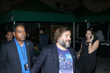 Jack Black Jack Black Leaving the Pantages Theatre