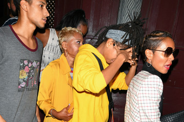 Jada Pinkett Smith Willow Smith Will Smith Is Seen Outside Peppermint Nightclub In West Hollywood