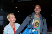 Jaime Pressly and Hamzi Hijazi at LAX