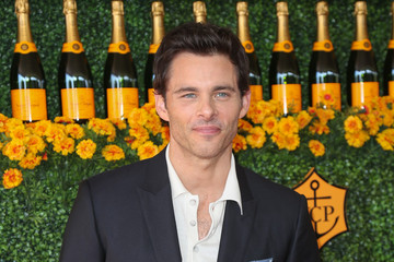 James Marsden Celebrities Arrive at the Sixth-Annual Veuve Clicquot Polo Classic