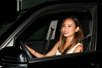 Jamie Chung Jamie Chung Dines at Craig's Restaurant in Hollywood