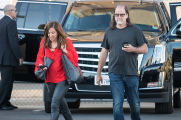 Jan Svendsen Glenn Weiss Arrives At 'Jimmy Kimmel Live'