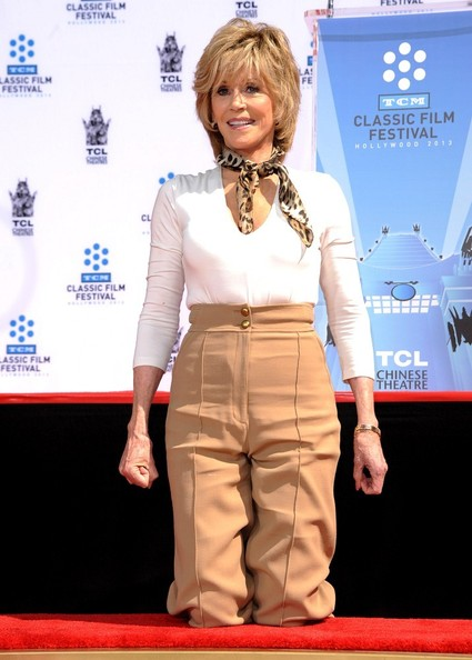 Jane Fonda Hand and Footprint Ceremony..TLC Chinese Theatre, Hollywood, CA..April 27, 2013..Job: 130427A1..(Photo by Axelle Woussen / Bauer-Griffin)..Pictured: Jane Fonda.