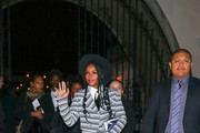 Janelle Monae Outside The Hearth And Hound Restaurant In Hollywood