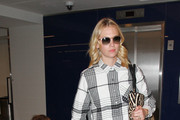 January Jones and Son Are Seen at LAX