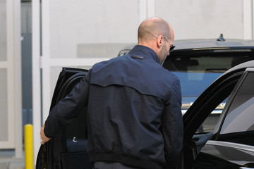 Jason Statham Jason Statham Seen at a Parking Garage
