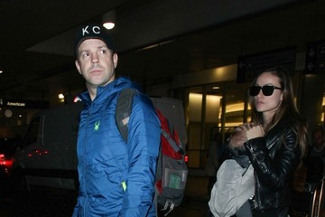 Jason Sudeikis Olivia Wilde and Jason Sudeikis at LAX