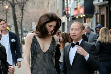 Jason Wu Hilary Rhoda and Jason Wu in NYC
