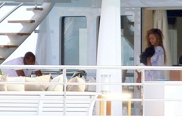 Jay-Z Beyonce Knowles Jay-Z and Beyonce on a Yacht