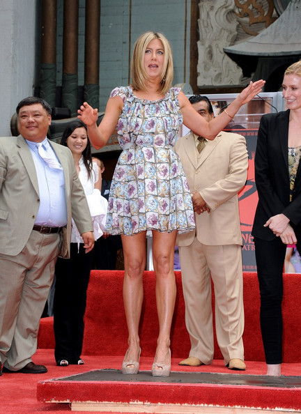Jennifer Aniston Hand and Footprints Ceremony.Grauman's Chinese Theatre, Hollywood, CA.