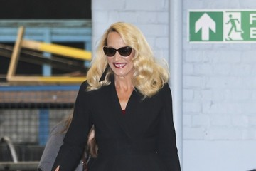 Jerry Hall Jerry Hall Leaves the ITV Studios