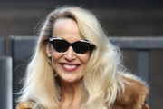 Jerry Hall Arrives at the ITV Studios