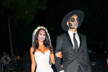 Jesse Metcalfe Cara Santana And Jesse Metcalfe Are Seen At The Casamigos Halloween Party In Beverly Hills