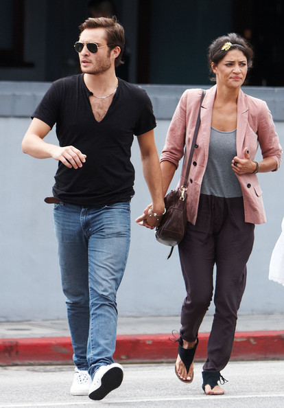 Jessica Szohr and ed westwick 2014