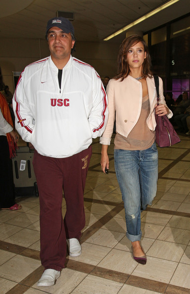Jessica Alba Jessica Alba arrives at Los Angeles International Airport (LAX) after departing New York.