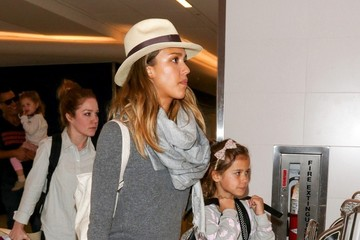 Jessica Alba Jessica Alba and Family at LAX