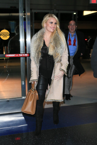 Jessica Simpson Is Seen at JFK