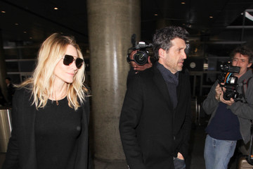 Jillian Fink Patrick Dempsey and Jillian Fink Are Seen at LAX