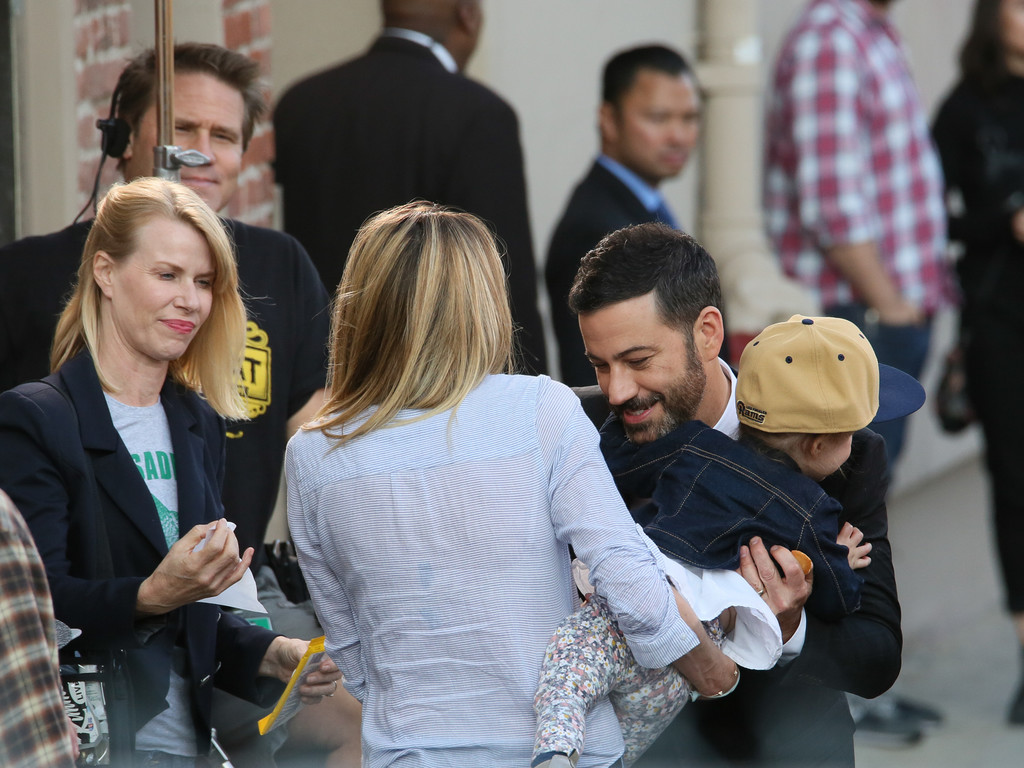 Jimmy Kimmel and Daughter Jane at 'Jimmy Kimmel Live' - Zimbio