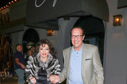 Joan Collins and Percy Gibson are seen in Los Angeles, California.
