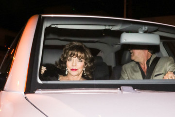 Joan Collins Joan Collins And Percy Gibson Are Seen Outside Craig's Restaurant In West Hollywood