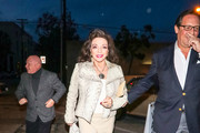 Joan Collins is seen in Los Angeles, California on March 23, 2019.