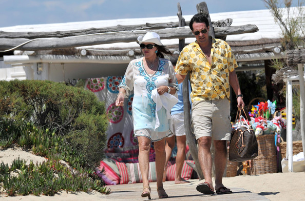 Her vacation with husband percy gibson at club 55 beach in st tropez