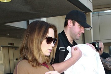 John Krasinski Emily Blunt and John Krasinski at LAX