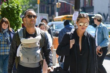 John Legend Chrissy Teigen and John Legend Go Out With Their New Baby