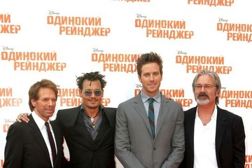 Johnny Depp Jerry Bruckheimer 'The Lone Ranger' Premiere in Moscow