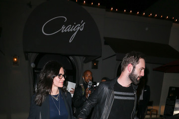 Johnny McDaid Courteney Cox Dines Out at Craig's Restaurant