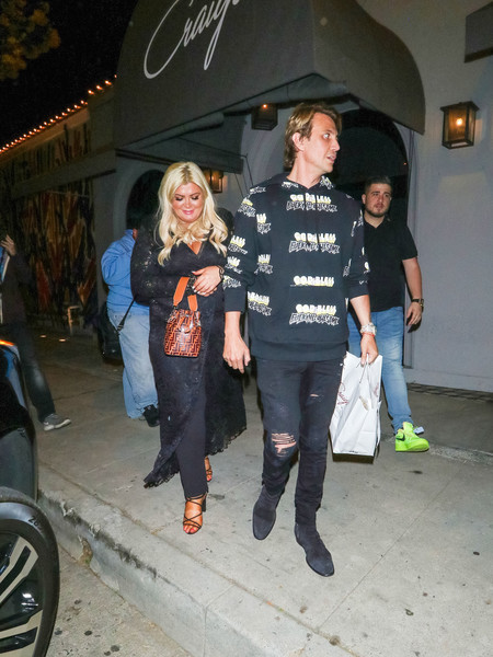 Jonathan Cheban And Gemma Collins Outside Craig's Restaurant In West Hollywood